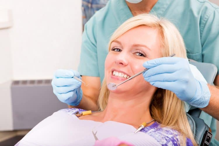 Dental Hygienist Check Up And Clean